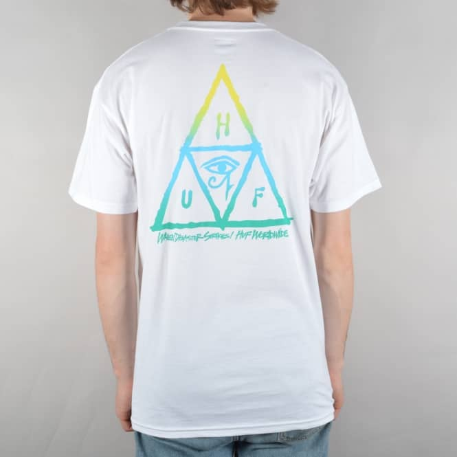 HUF RA Triple Triangle T-Shirt - White