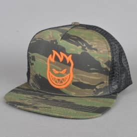 Raised Bighead Tiger Camo Trucker Cap - Camo/Black
