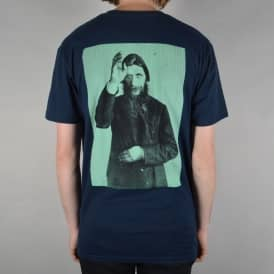 Rasputin Skate T-Shirt - Navy/Sea Green