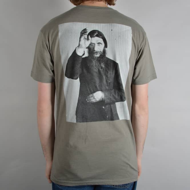 Theories of Atlantis Rasputin Skate T-Shirt - Warm Grey/Black