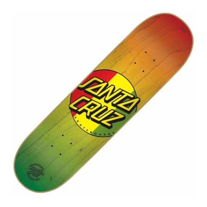 Santa Cruz Skateboards Rasta Dot Skateboard Deck 8.0''