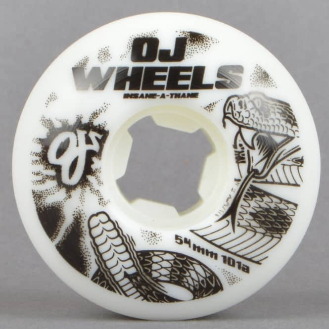 OJs Wheels Rattlers EZ Edge Insaneathane 101A Skateboard Wheels 54mm
