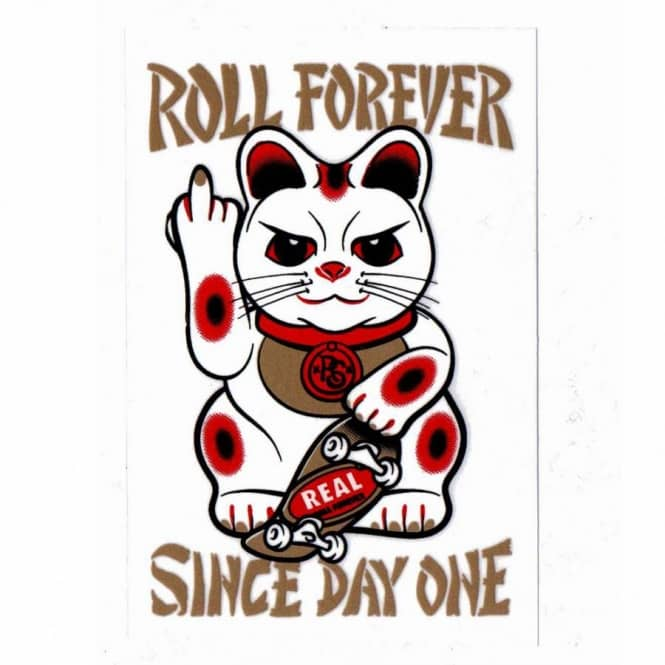 Real skateboards real good luck forever skateboard sticker skateboard stickers from native skate store uk
