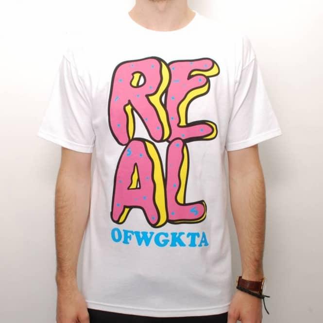 real skateboards real ofwgkta donut odd future colaboration t shirt