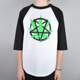 Devils Harvest 3/4 Sleeve Raglan T-Shirt - White/Black