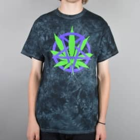 Devils Harvest Tie Dye Skate T-Shirt - Black/Green