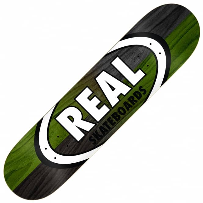 Real Skateboards Double Dipped Oval Skateboard Deck 8.75