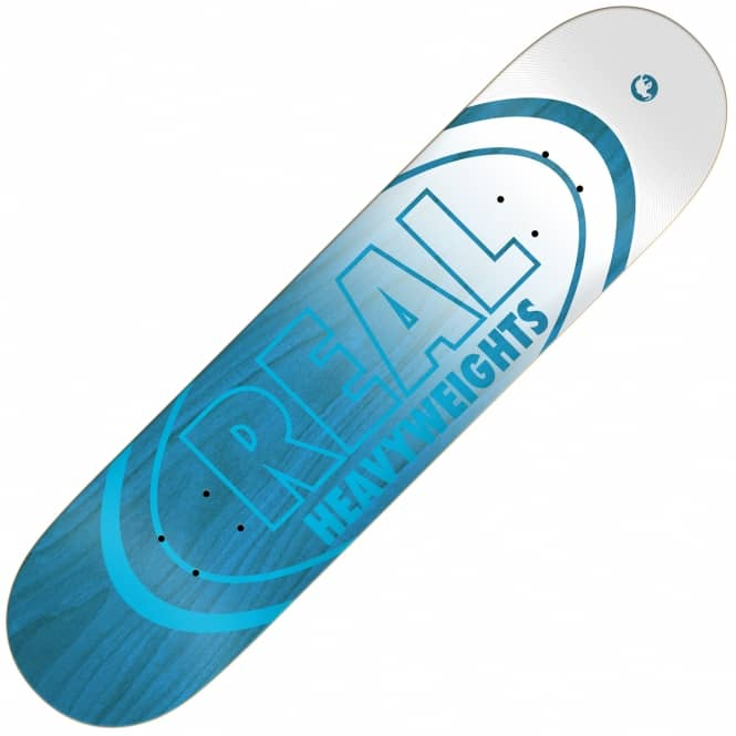 Real Skateboards Heavyweights Blue Skateboard Deck 8.38