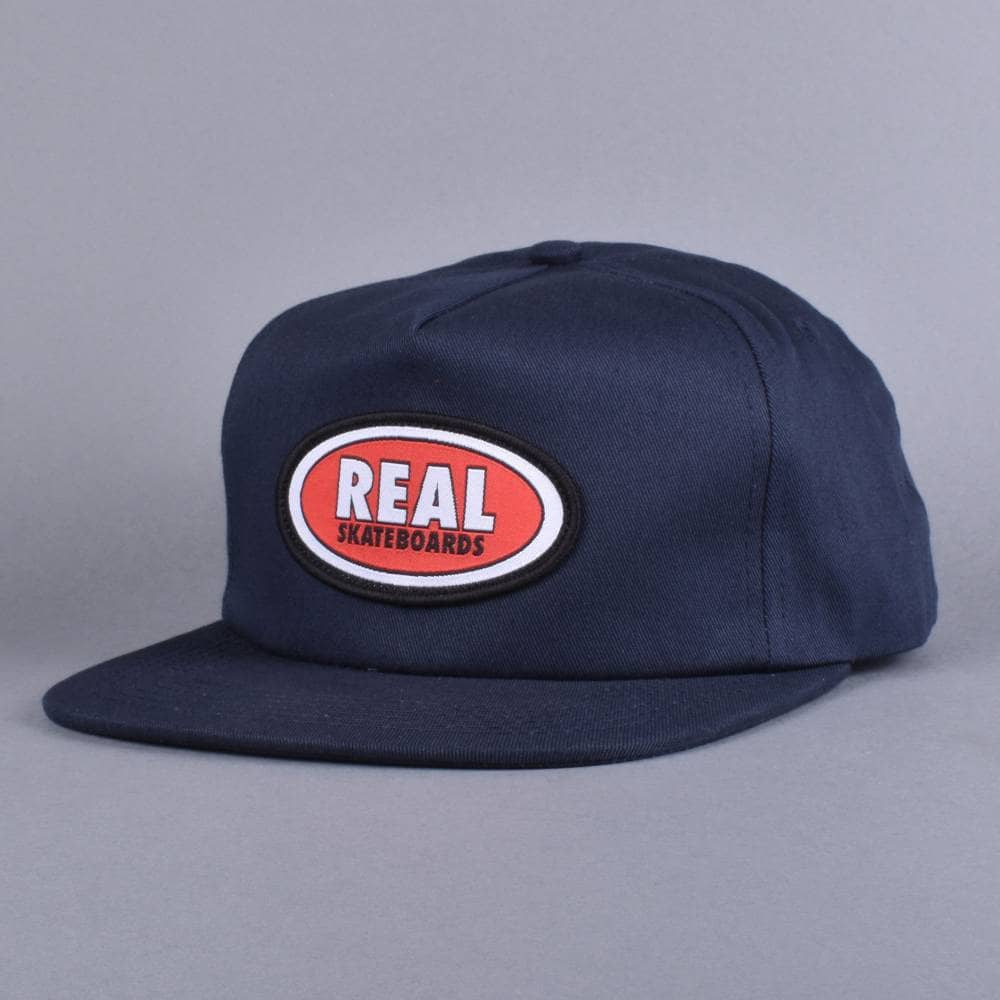 3409ecd20d5 Real Skateboards Oval Patch Snapback Cap - Navy - SKATE CLOTHING ...