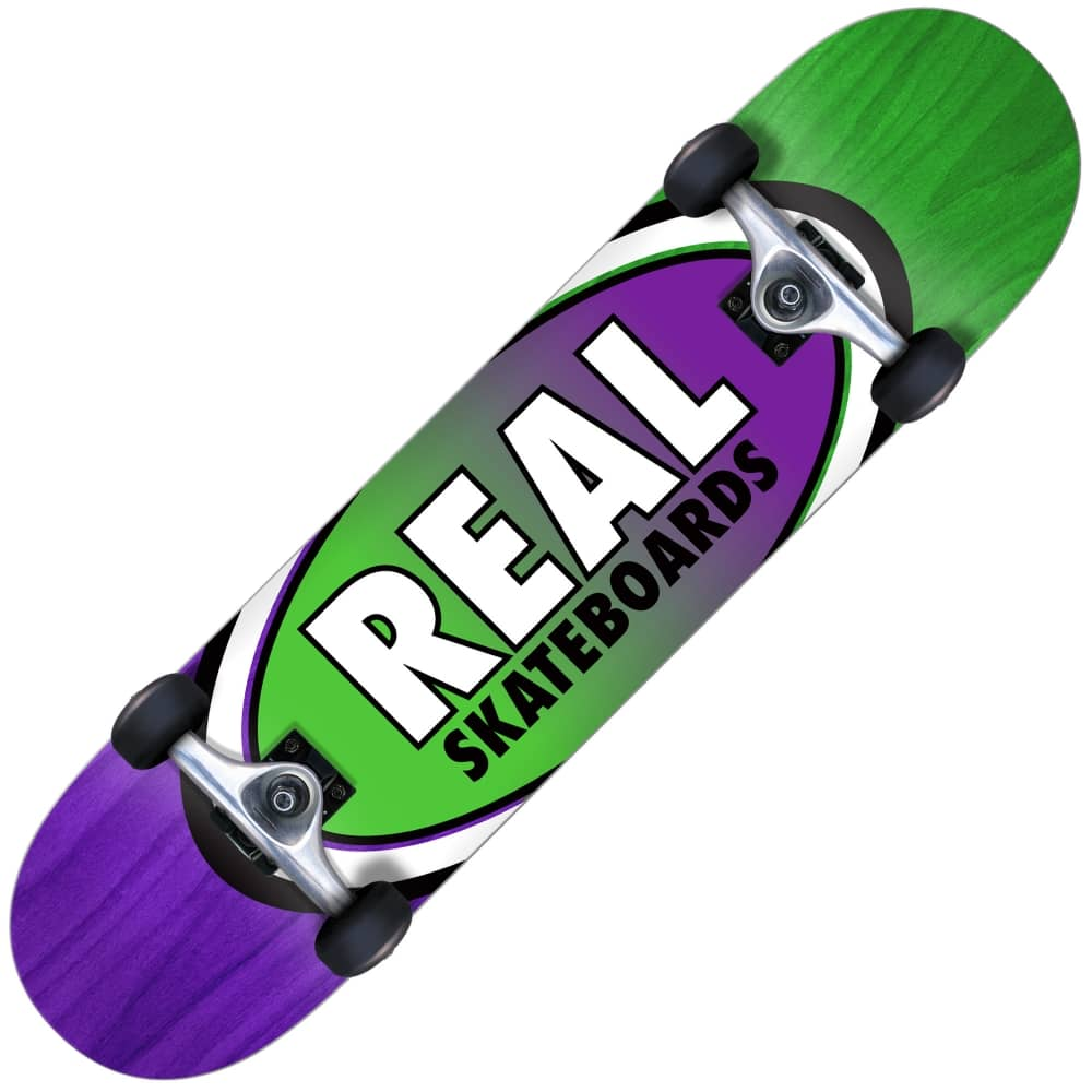Oval Two Fades Medium Complete Skateboard 7 75