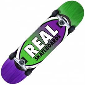 Real Skateboards Oval Two Fades Medium Complete Skateboard 7.75""