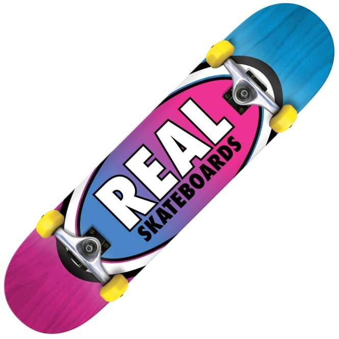 Real Skateboards Oval Two Fades Mini Complete Skateboard 7.3