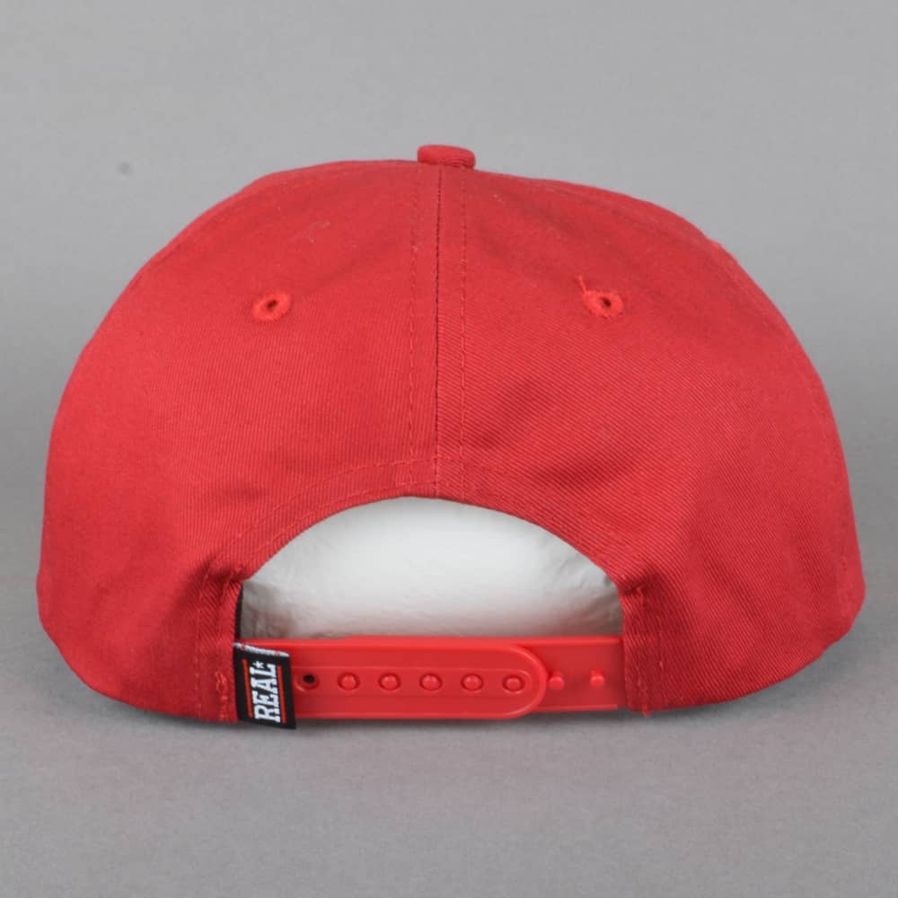 02687198ea7 Real Skateboards Oval Unstructured Snapback Cap - Red - SKATE ...