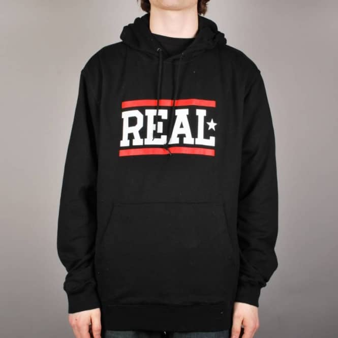 Real Skateboards Real Bars Pullover Hoodie - Black/White/Red