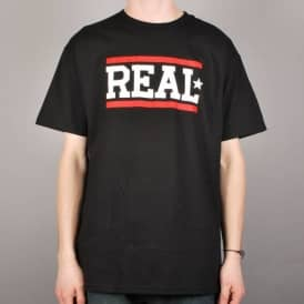 Real Bars Skate T-Shirt Black/White/Red