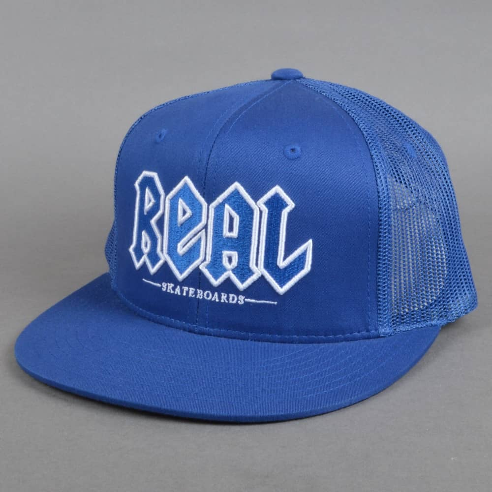 Real Skateboards Real Deeds Trucker Cap Royal Blue - SKATE CLOTHING ... 9e3c8f07f98