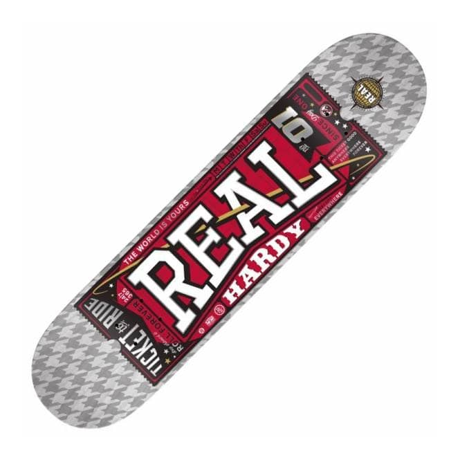 Real Skateboards Real James Hardy Ticket To Ride Skateboard Deck 8.5''
