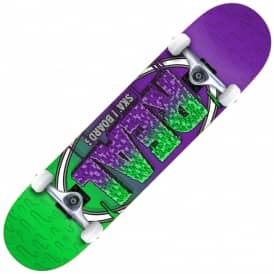Real Skateboards Slime Fades Complete Skateboard 8""