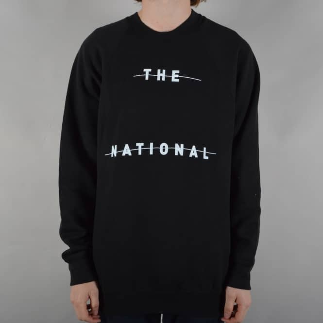 The National Skateboard Co. Redacted Crewneck Sweater - Black