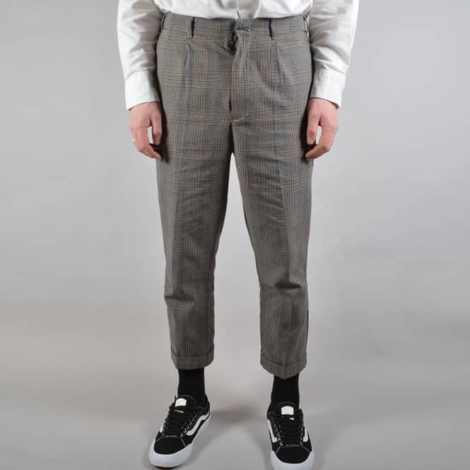 Brixton Regent Tapered Trouser - Grey Plaid