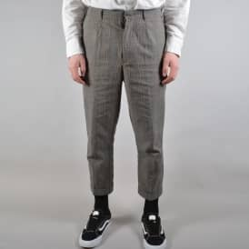 Regent Tapered Trouser - Grey Plaid