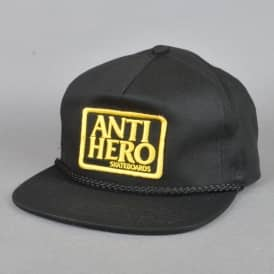 Reserve Patch Snapback Cap - Black/Yellow