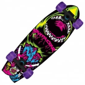 "Santa Cruz Skateboards Retro Neon Land Shark Cruiser Skateboard 8.8"" x 27.7"""