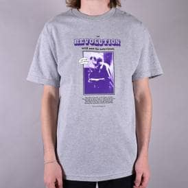 Revoloution Skate T-Shirt - Heather Grey