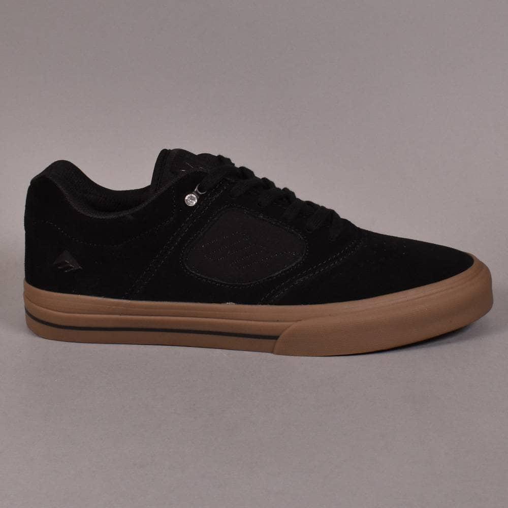 Emerica Mens Skate Shoes Reynolds 3 G6 Vulc Black Gum