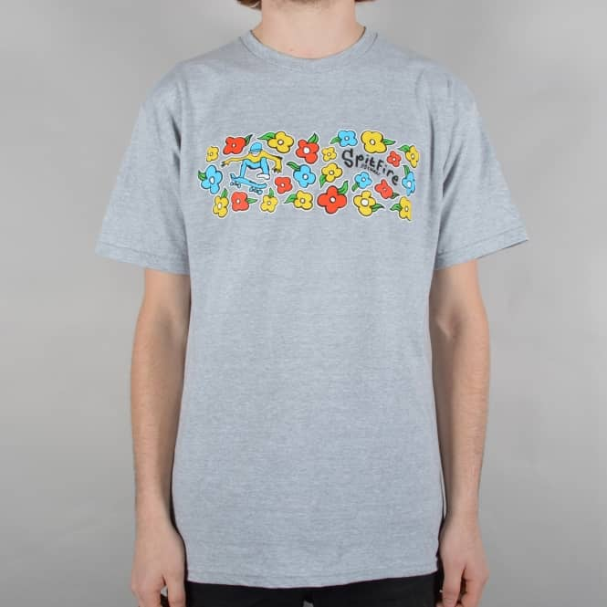 Spitfire Wheels Reynolds By Gonz Skate T-Shirt - Grey