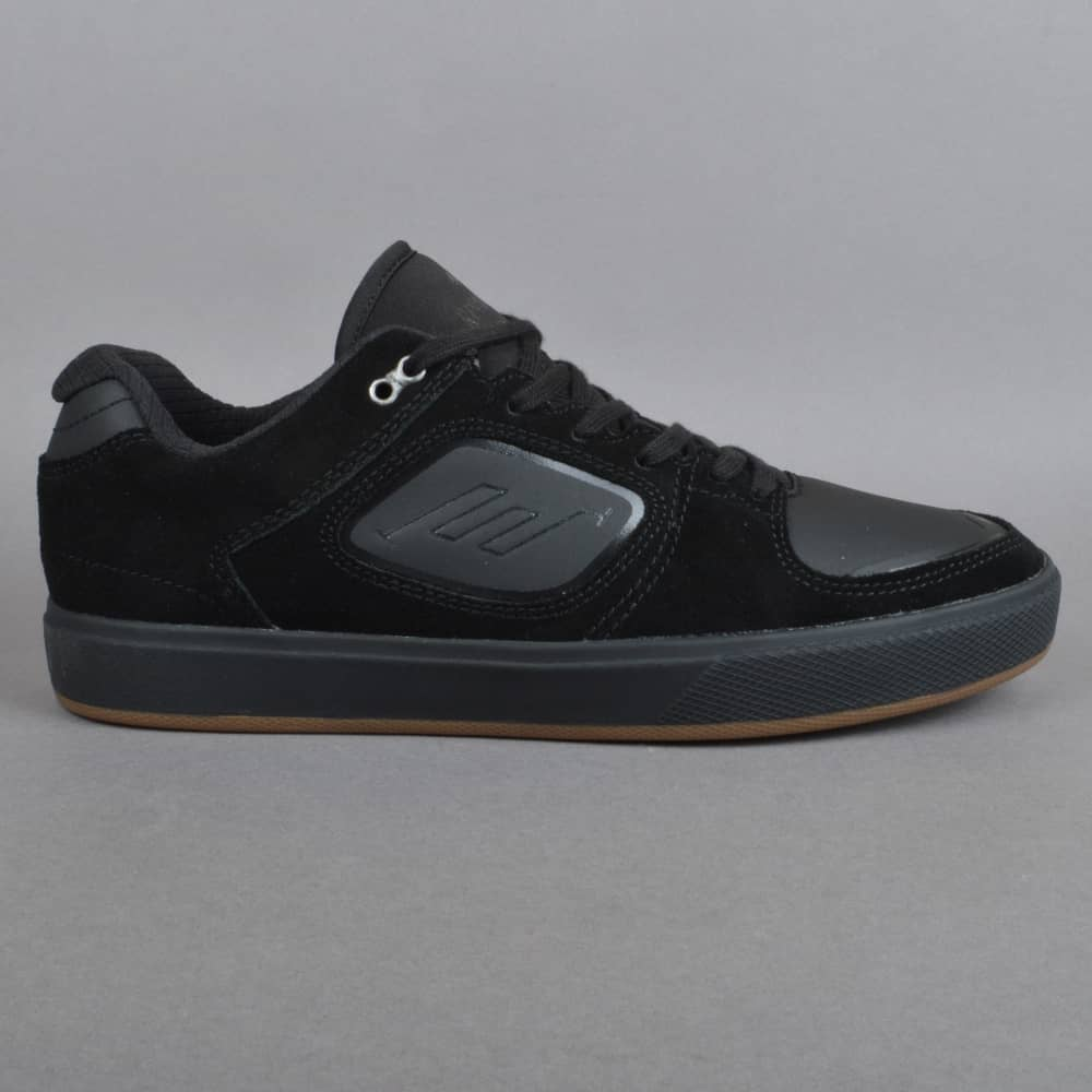 Emerica Reynolds 3 G6 Vulc Skate Shoes - Black/Gum - SKATE