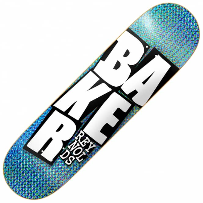 Baker Skateboards Reynolds Stacked Names Holographic Foil Skateboard Deck 8.5