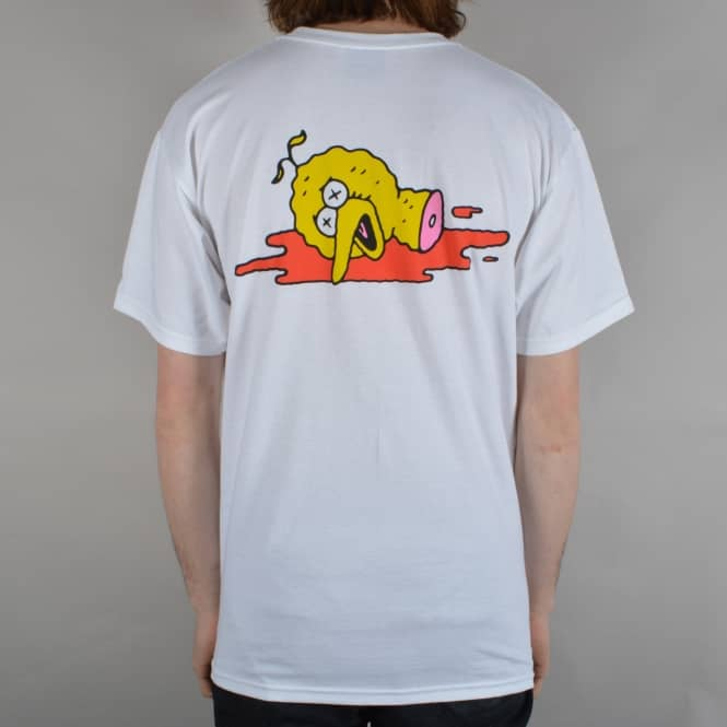 Pizza Skateboards Ride Together Skate T-Shirt - White