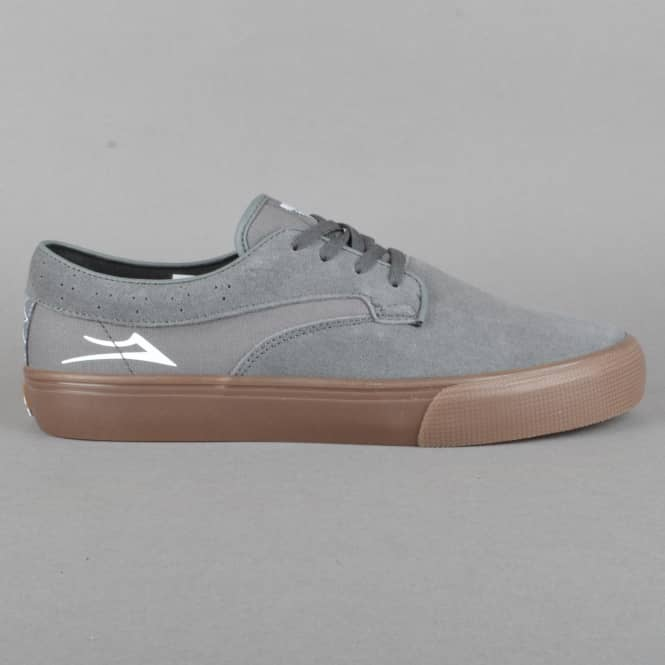 Lakai Riley Hawk Skate Shoes - Grey/Gum Suede