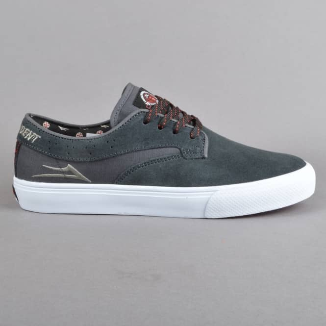 Lakai Riley Hawk x Indy Collaboration Skate Shoes - Charcoal Suede