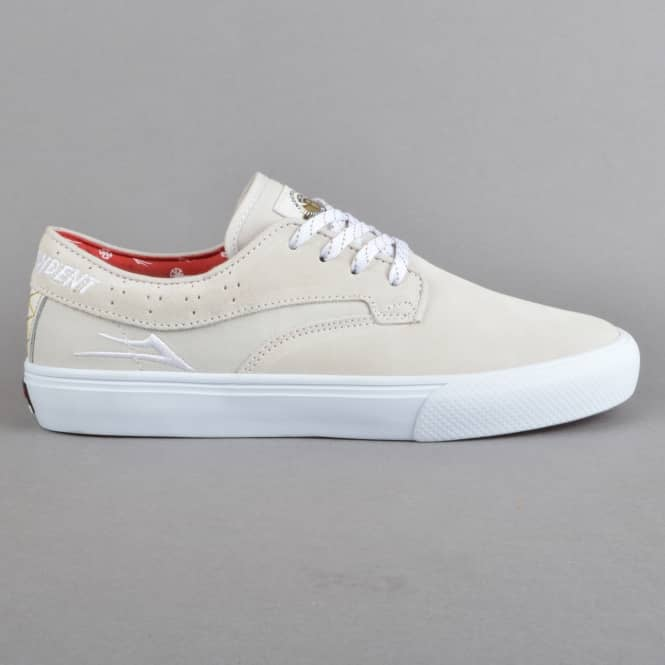 Lakai Riley Hawk x Indy Collaboration Skate Shoes - White Suede