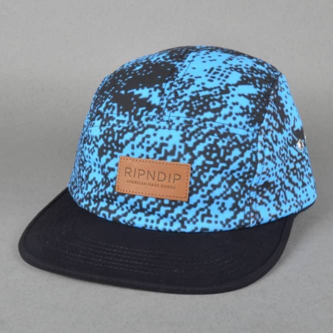 Rip N Dip Byte Teal Camp 5 Panel Cap - Teal