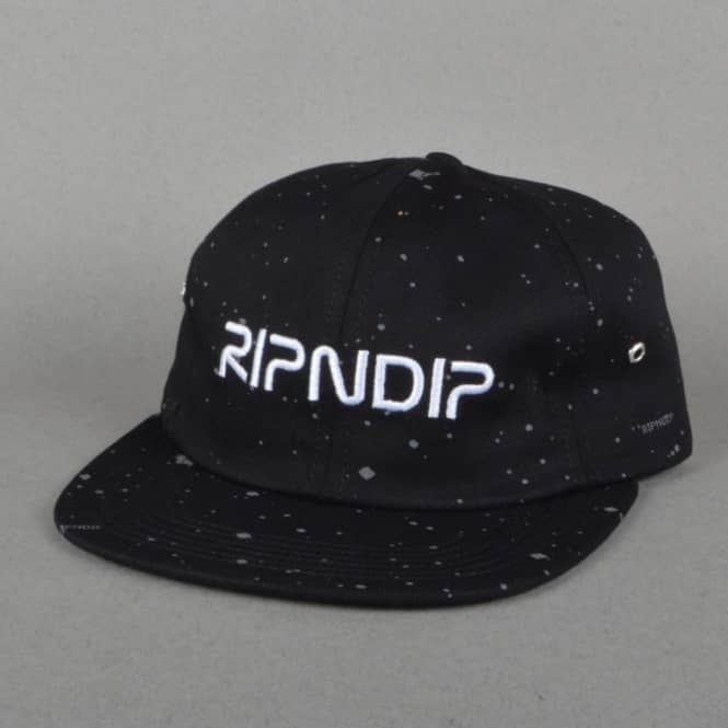 Rip N Dip Deep Space 6 Panel Cap - Black
