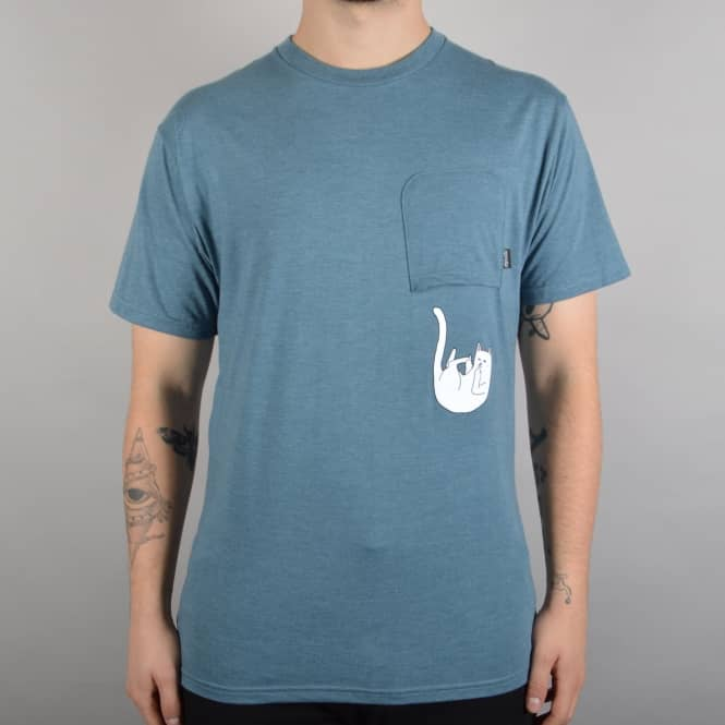 Rip N Dip Falling For Nermal Pocket T-Shirt - Indigo Heather