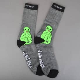 Rip N Dip Lord Alien Pin Knit Socks - Black