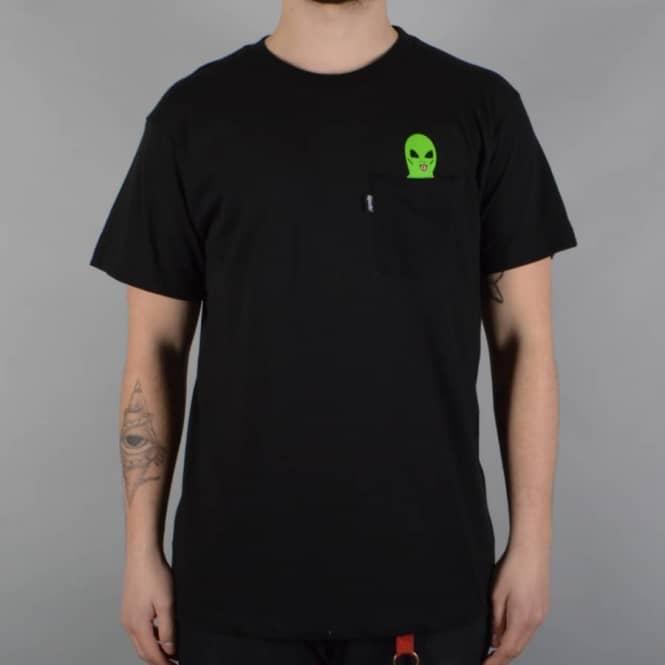 bb8d6e23f Rip N Dip Lord Alien Pocket T-Shirt - Black - SKATE CLOTHING from ...