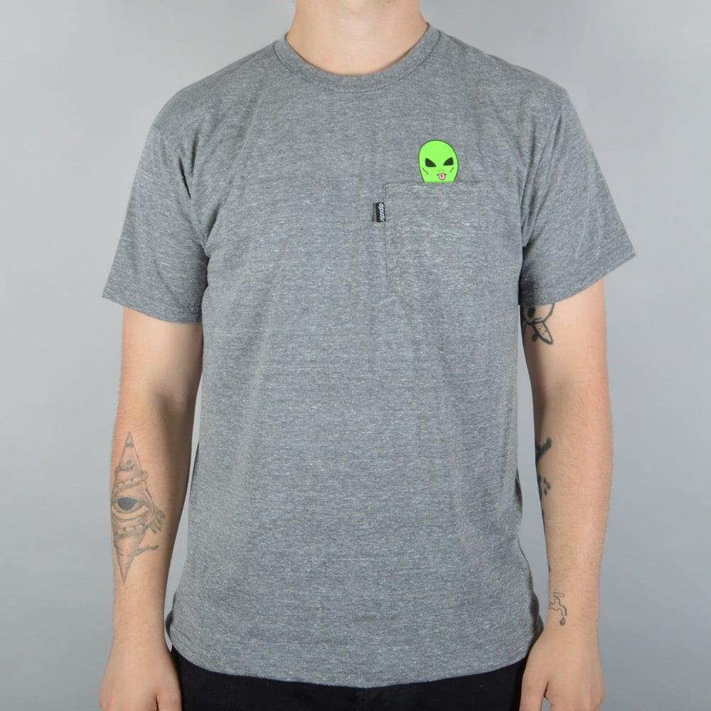 a5fe1bfe7 Rip N Dip Lord Alien Pocket T-Shirt - Grey - SKATE CLOTHING from ...