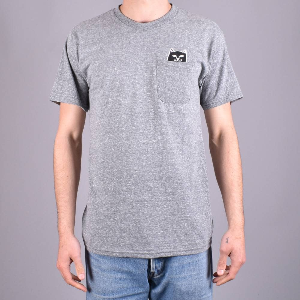 1e956915f Rip N Dip Lord Jermal Pocket T-Shirt - Ash Heather Grey - SKATE ...