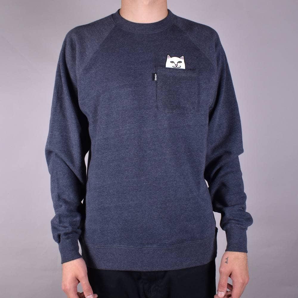 5131d0aea40 Rip N Dip Lord Nermal Crewneck Sweater - Dark Blue - SKATE CLOTHING ...