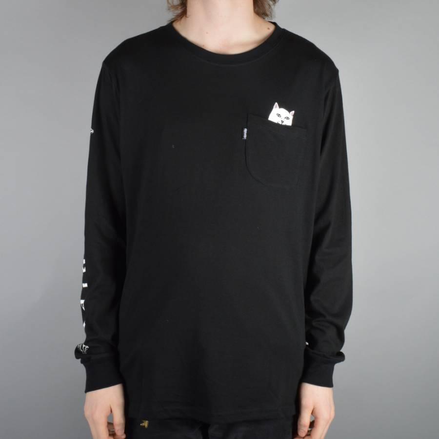Rip n dip lord nermal long sleeve pocket t shirt black for Long sleeve pocket shirts