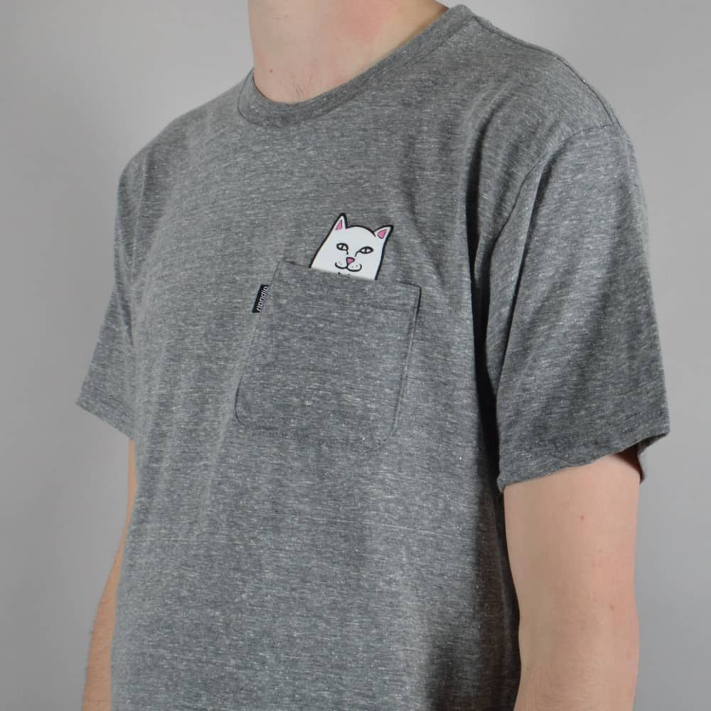 172dc8e7a Rip N Dip Lord Nermal Pocket T-Shirt - Heather Grey - SKATE CLOTHING ...