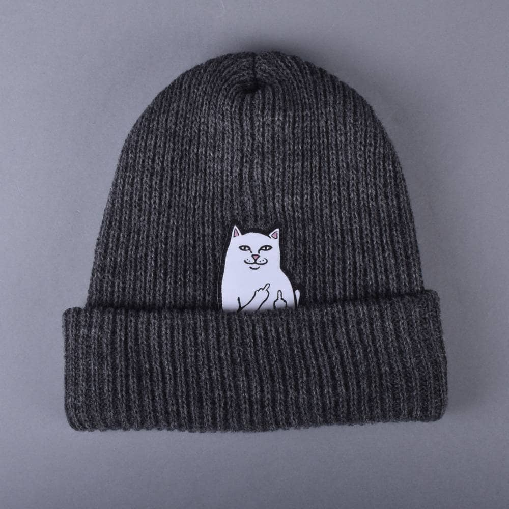 3e214c0aefc Rip N Dip Lord Nermal Ribbed Beanie - Charcoal - SKATE CLOTHING from ...