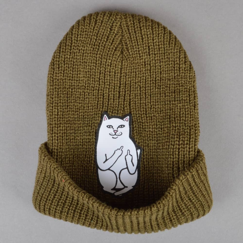 ed13f74d966 Rip N Dip Lord Nermal Ribbed Beanie - Olive - SKATE CLOTHING from ...