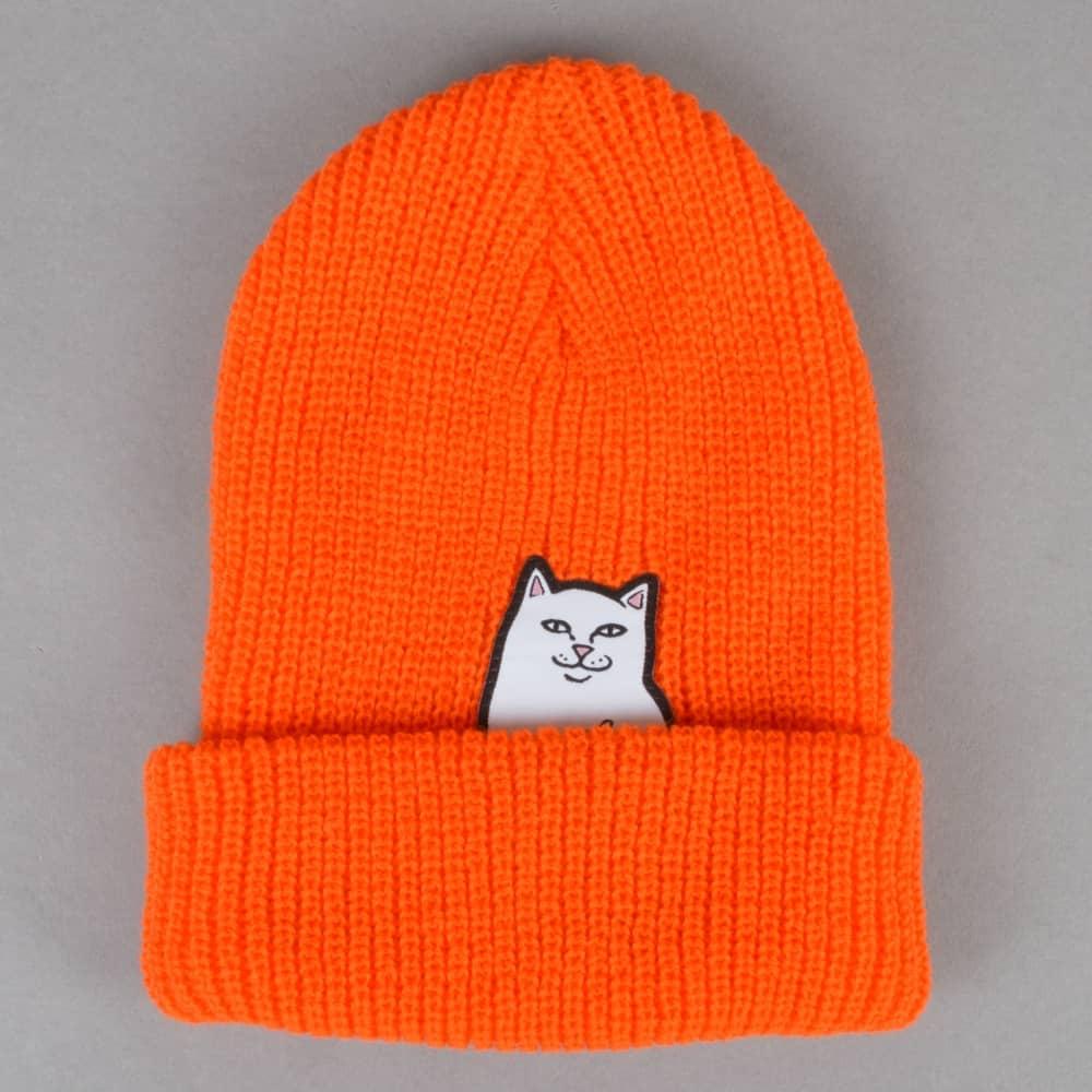 65c4417aa13 Rip N Dip Lord Nermal Ribbed Beanie - Orange - SKATE CLOTHING from ...
