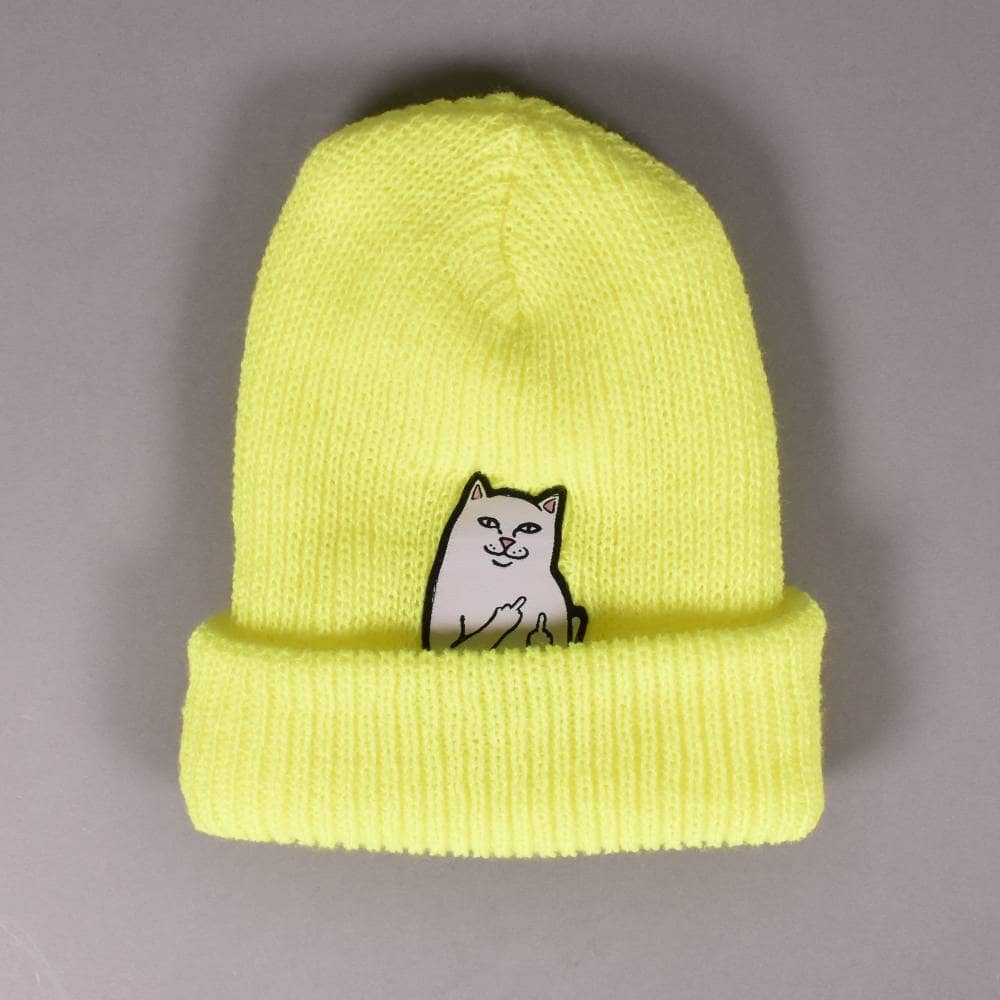 2b9497621c8b1 Rip N Dip Lord Nermal Ribbed beanie - Safety Yelllow - SKATE ...